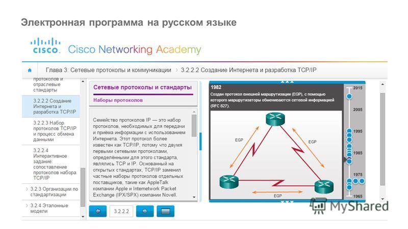 Электронная программа на русском языке