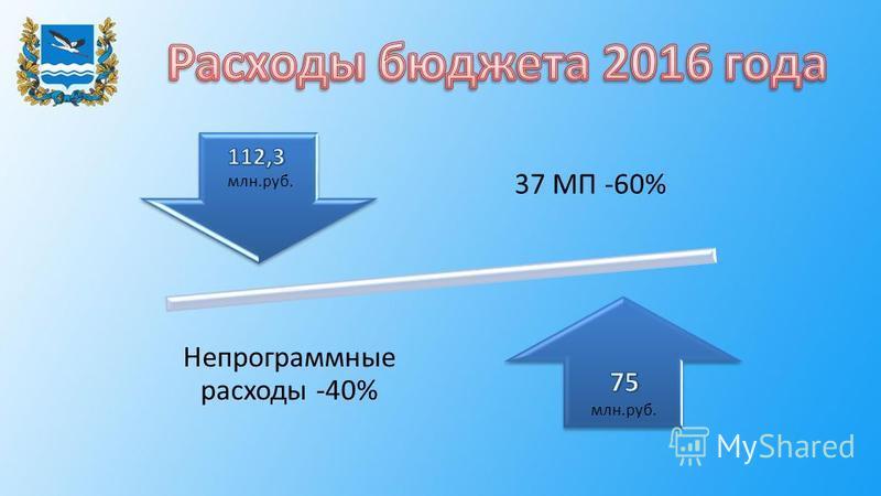 37 МП -60% Непрограммные расходы -40%