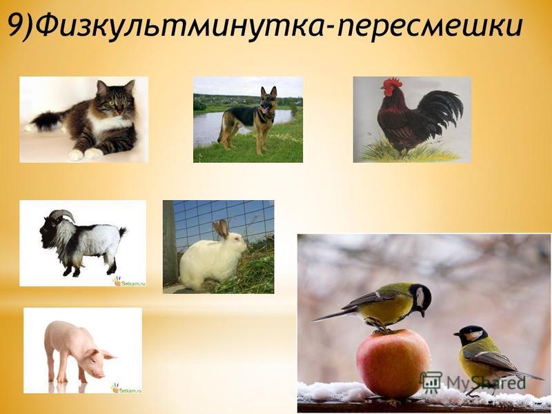 9)Физкультминутка-пересмешки