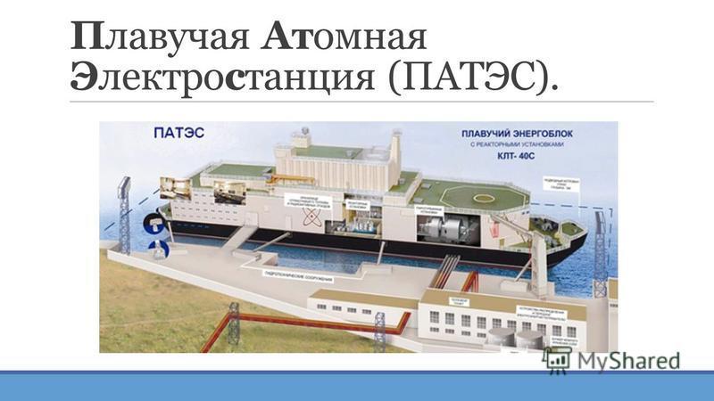 Плавучая Атомная Электростанция (ПАТЭС).