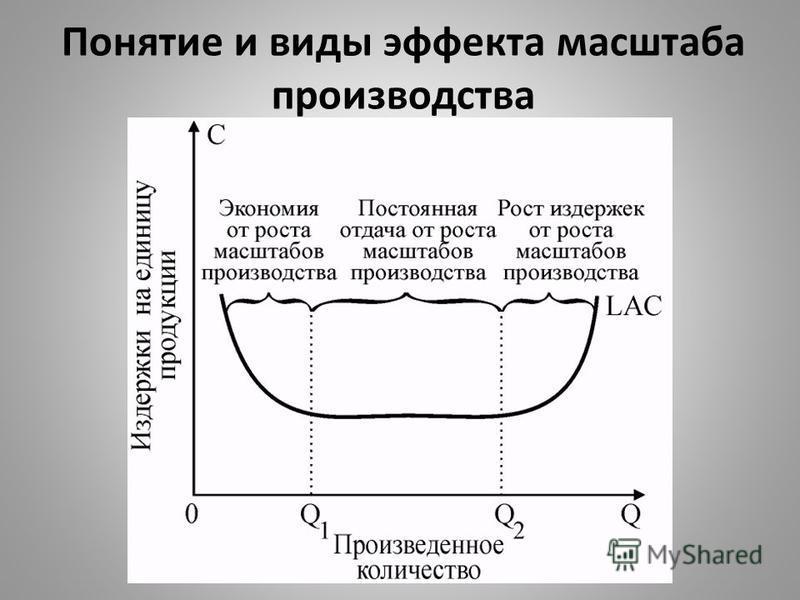 Понятие и виды эффекта масштаба производства