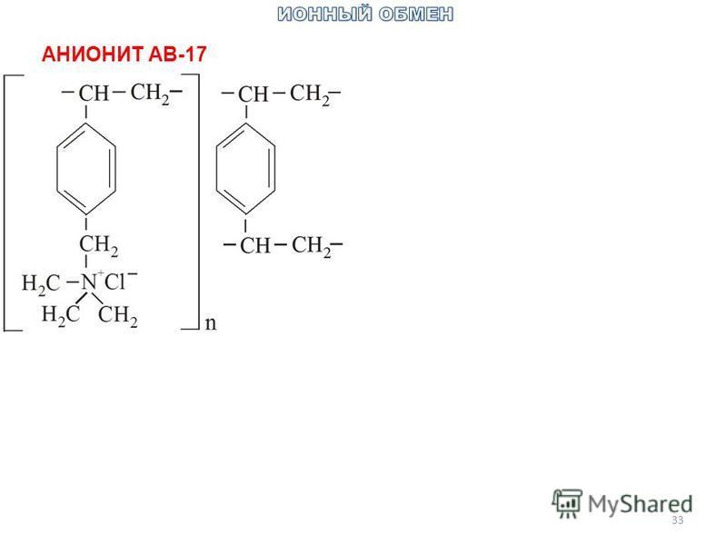 33 АНИОНИТ АВ-17