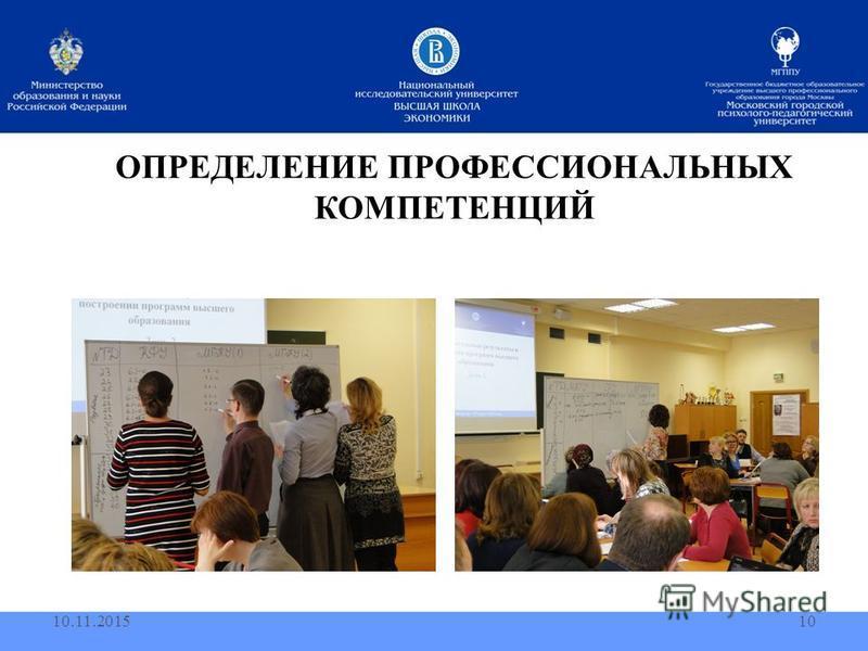 ОПРЕДЕЛЕНИЕ ПРОФЕССИОНАЛЬНЫХ КОМПЕТЕНЦИЙ 10.11.201510