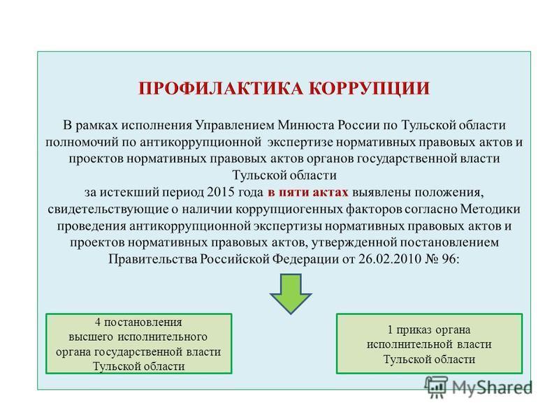 4 постановления высшего исполнительного органа государственной власти Тульской области 1 приказ органа исполнительной власти Тульской области