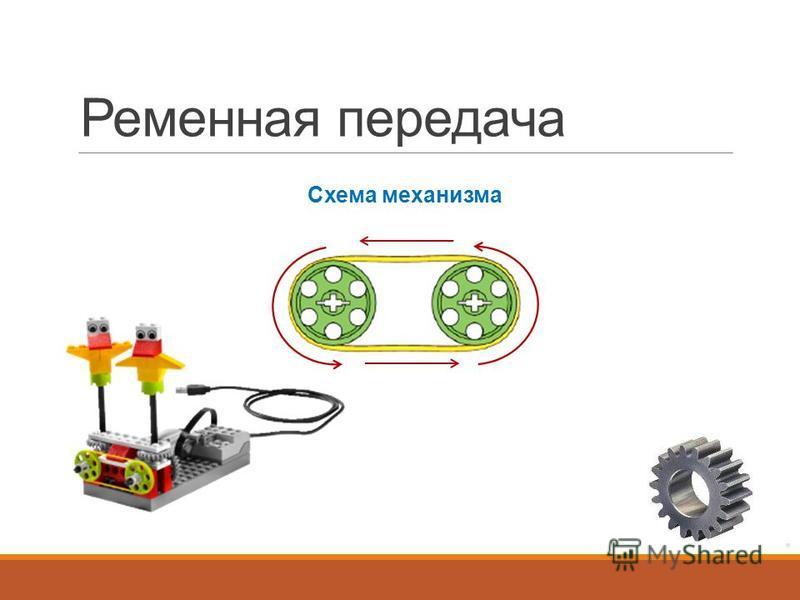 Ременная передача Схема механизма
