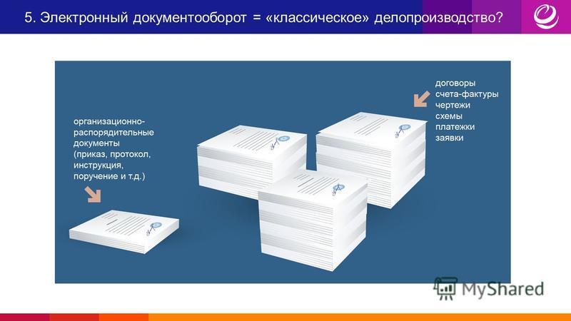 5. Электронный документооборот = «классическое» делопроизводство?