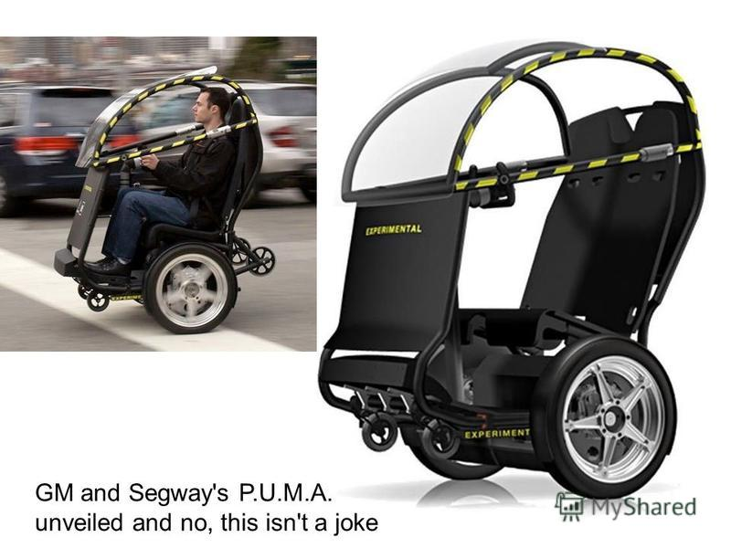 GM and Segway's P.U.M.A. unveiled and no, this isn't a joke