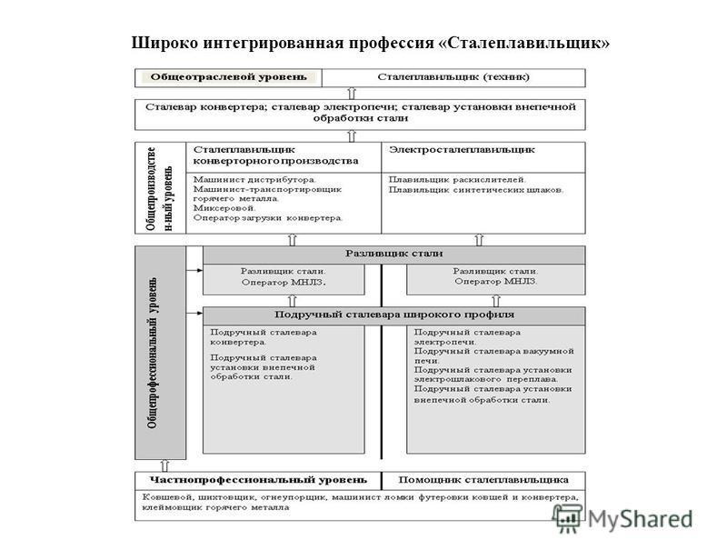 Широко интегрированная профессия «Сталеплавильящик»
