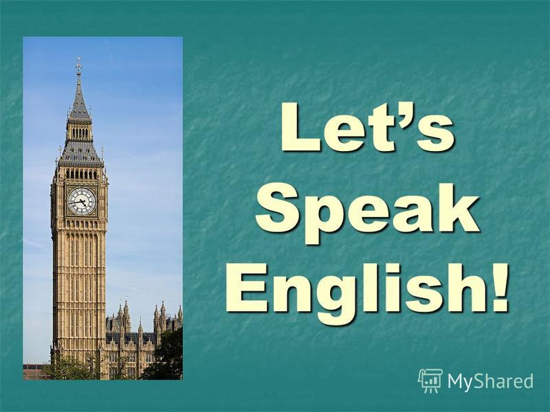 Lets Speak English!