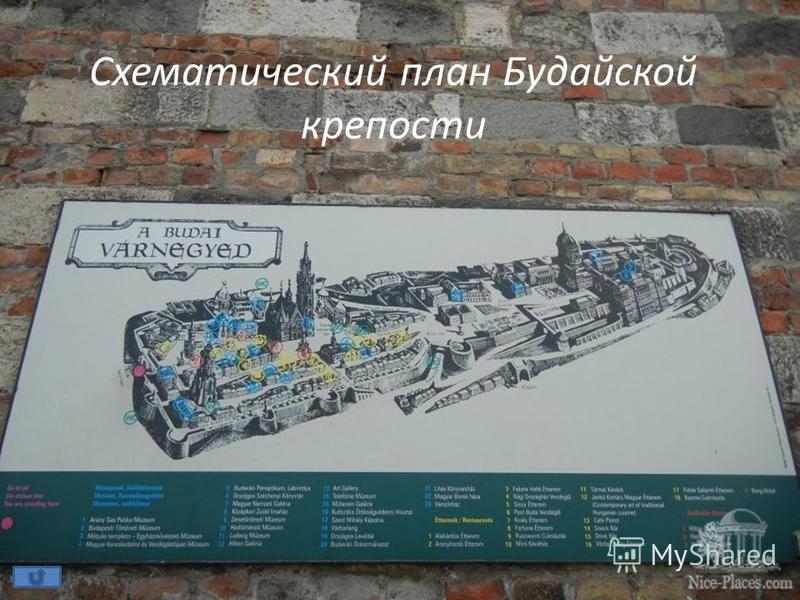 Схематический план Будайской крепости