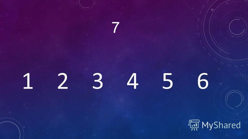 7 1 2 3 4 5 6