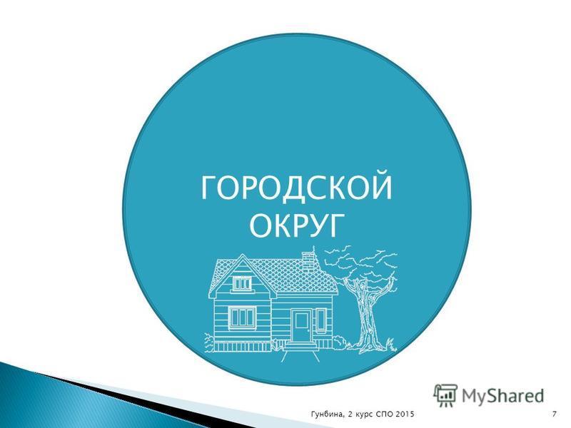 ГОРОДСКОЙ ОКРУГ 7Гунбина, 2 курс СПО 2015