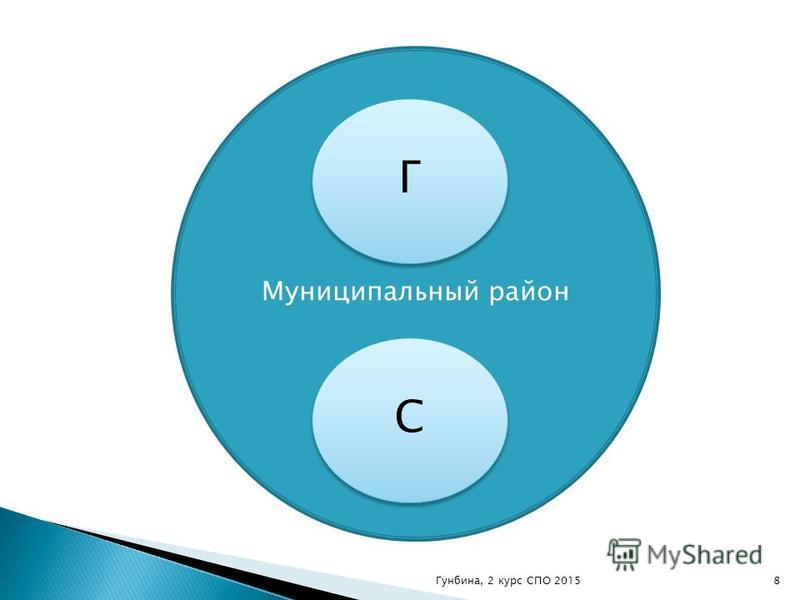 Муниципальный район С С Г Г 8Гунбина, 2 курс СПО 2015