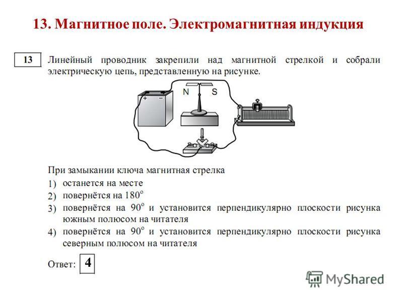 13. Магнитное поле. Электромагнитная индукция 4