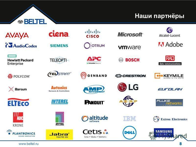 Наши партнёры www.beltel.ru 88