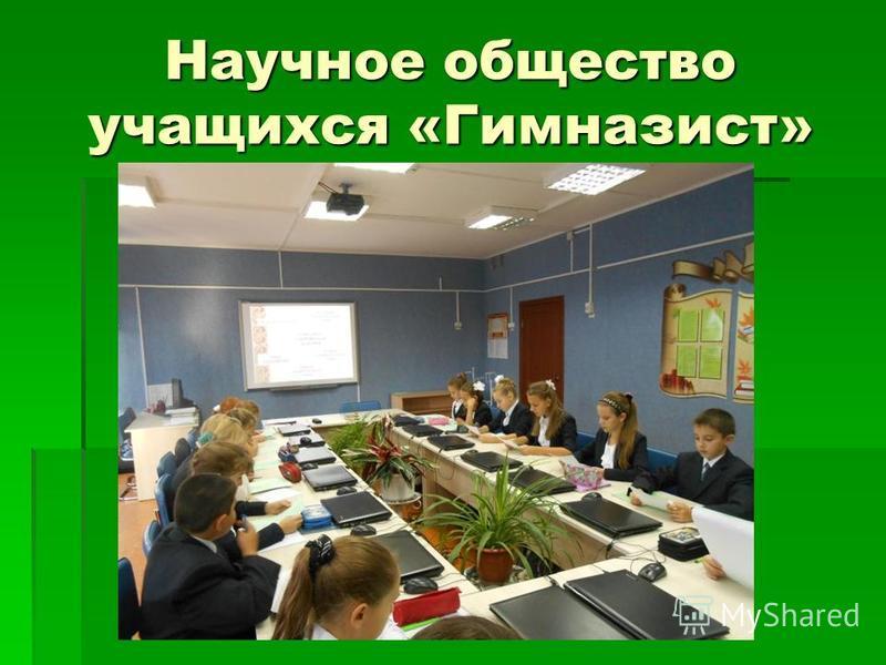 Научное общество учащихся «Гимназист»