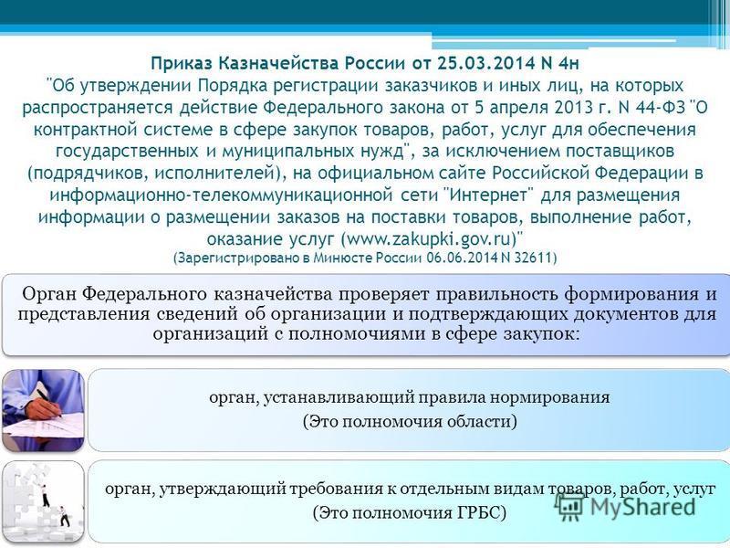 Приказ Казначейства России от 25.03.2014 N 4 н