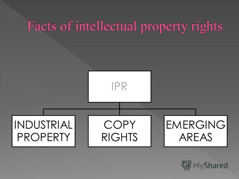 IPR INDUSTRIAL PROPERTY COPY RIGHTS EMERGING AREAS