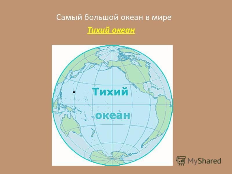 Самый большой океан в мире Тихий океан
