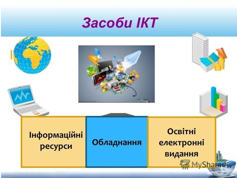 Інформаційні ресурси Обладнання Освітні електронні видання