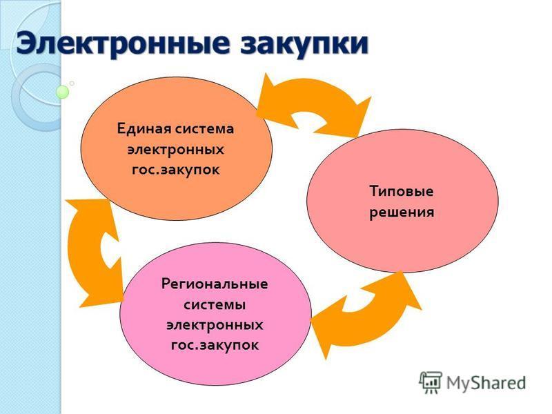 Единая система электронных гос. закупок Региональные системы электронных гос. закупок Типовые решения