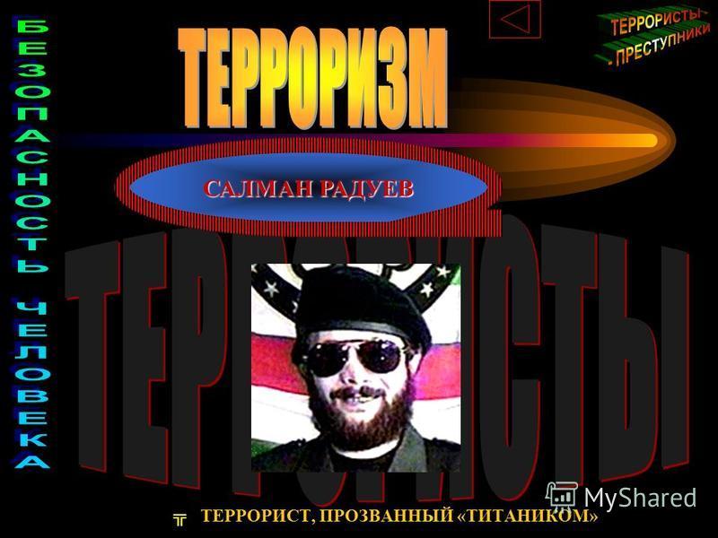 САЛМАН РАДУЕВ ТЕРРОРИСТ, ПРОЗВАННЫЙ «ТИТАНИКОМ»