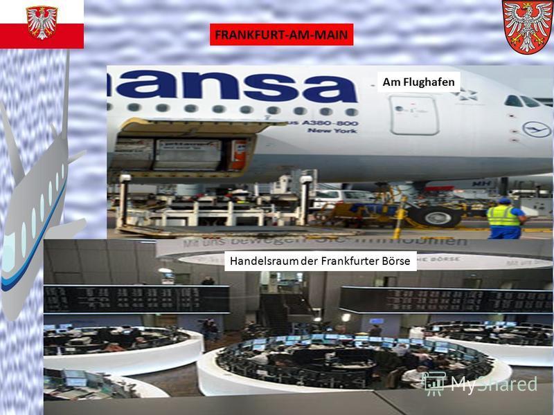 FRANKFURT-AM-MAIN Am Flughafen Handelsraum der Frankfurter Börse