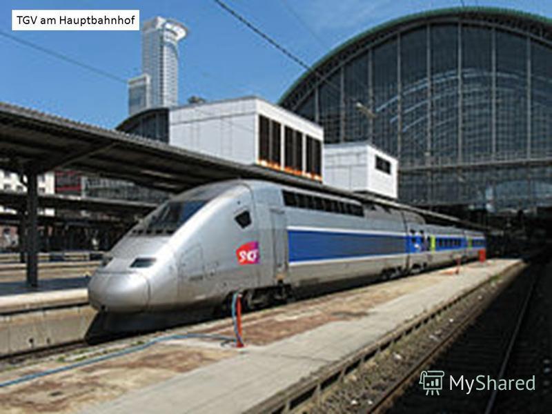 TGV am Hauptbahnhof