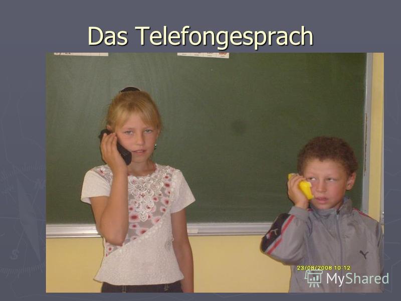 Das Telefongesprach