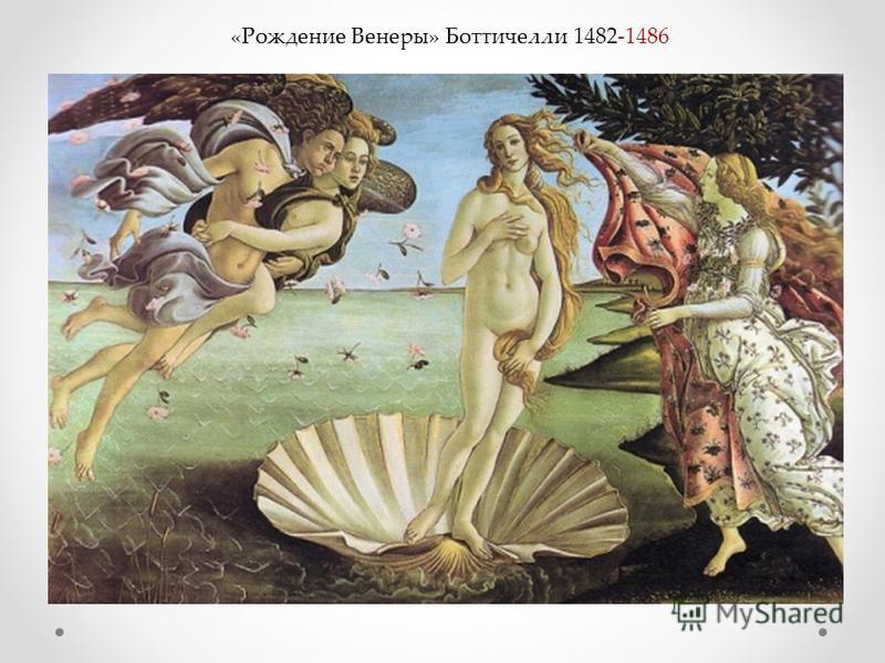 «Рождение Венеры» Боттичелли 1482-1486