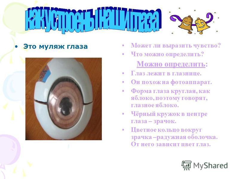 Здоровье – одна из самых острых проблем современной жизни. Один из органов, которые мы должны беречь-это глаза. Сегодня мы с вами проведём устный журнал «Берегите глаза!» И так, первая страница нашего журнала называется: КАК устроены наши ГЛАЗА?