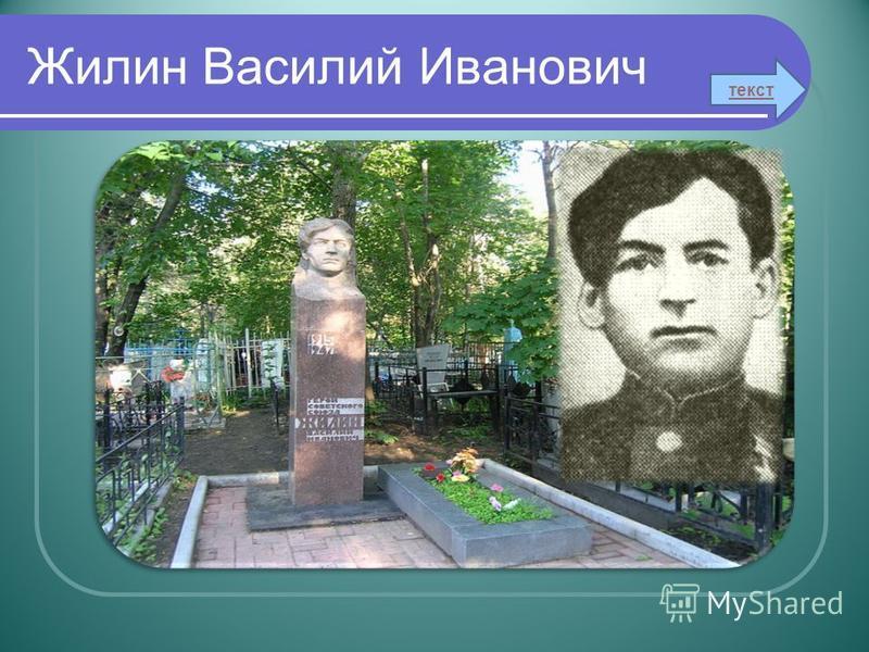 Жилин Василий Иванович текст