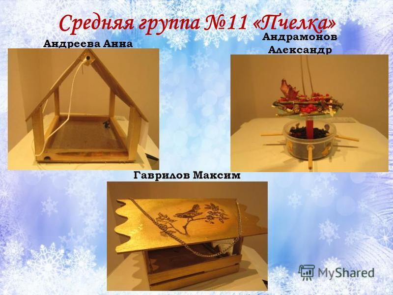 Средняя группа 11 «Пчелка» Андреева Анна Андрамонов Александр Гаврилов Максим