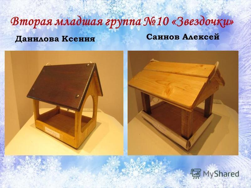 Вторая младшая группа 10 «Звездочки» Данилова Ксения Саинов Алексей
