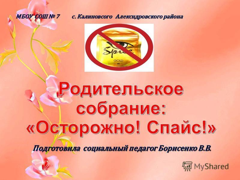 МБОУ СОШ 7 с. Калиновсого Алексндровского района