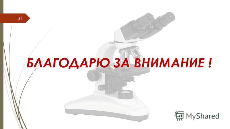 БЛАГОДАРЮ ЗА ВНИМАНИЕ ! 31