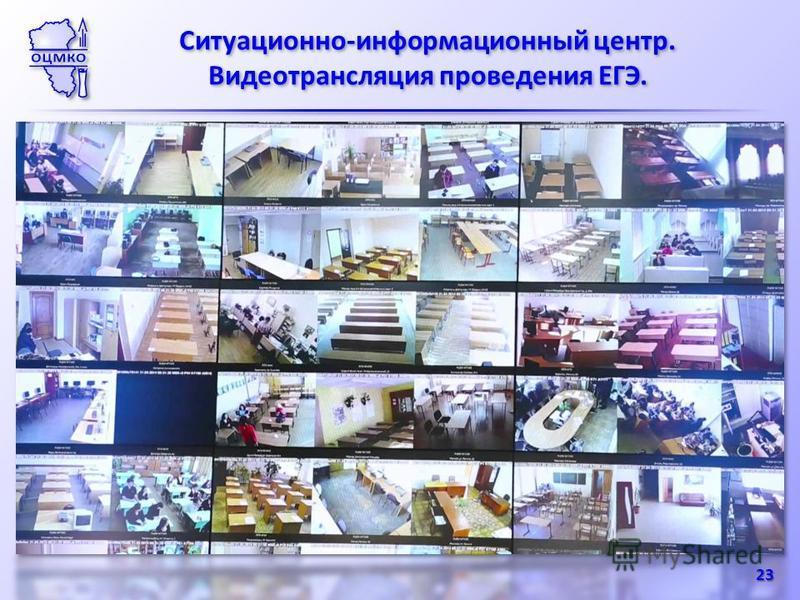 Ситуационно-информационный центр. Видеотрансляция проведения ЕГЭ. Ситуационно-информационный центр. Видеотрансляция проведения ЕГЭ. 23