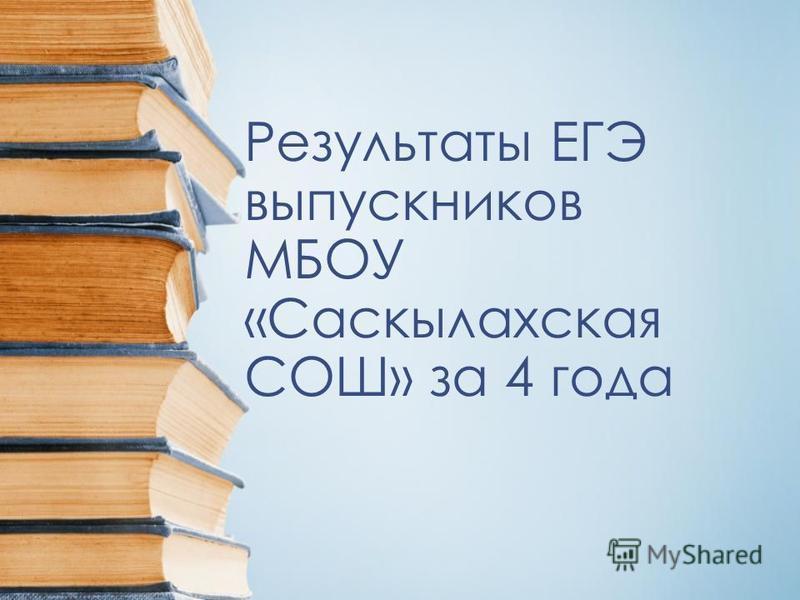 Результаты ЕГЭ выпускников МБОУ «Саскылахская СОШ» за 4 года