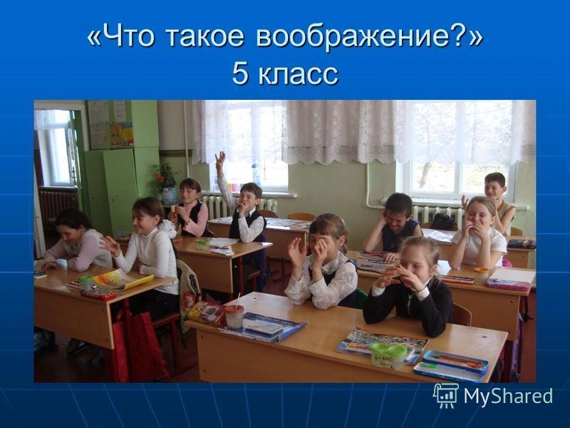 «Что такое воображение?» 5 класс