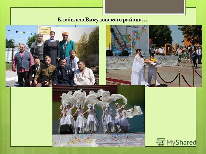 К юбилею Викуловского района…