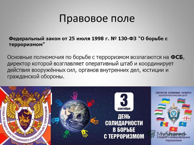 Правовое поле Федеральный закон от 25 июля 1998 г. 130-ФЗ