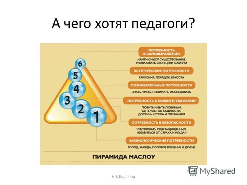 А чего хотят педагоги? Н.В.Еговкина