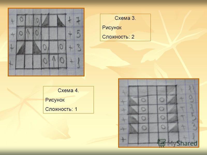 Схема 4. Рисунок Сложность: 1 Схема 3. Рисунок Сложность: 2
