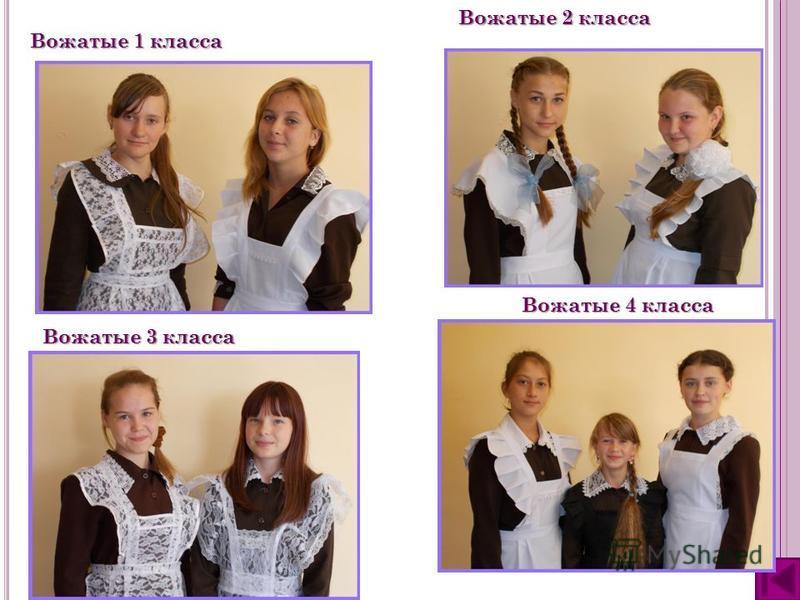 Вожатые 1 класса Вожатые 2 класса Вожатые 3 класса Вожатые 4 класса