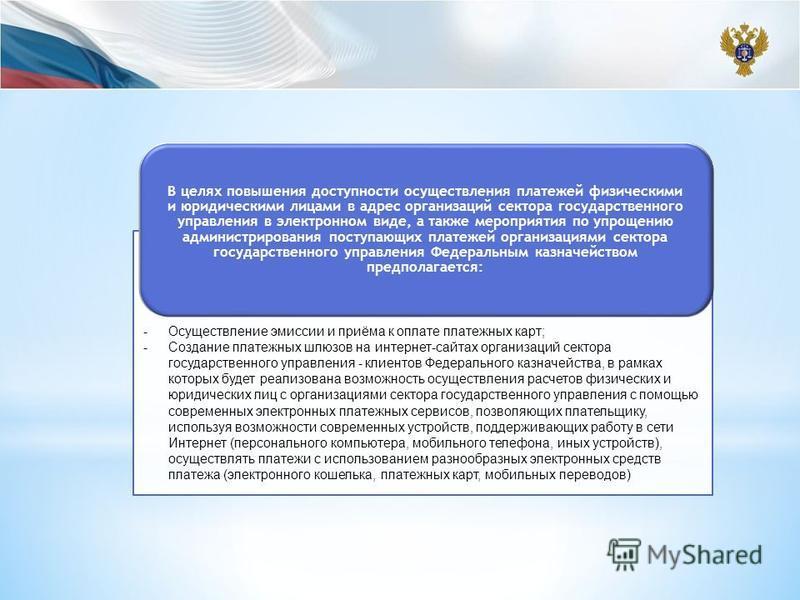 В целях повышения доступности осуществления платежей физическими и юридическими лицами в адрес организаций сектора государственного управления в электронном виде, а также мероприятия по упрощению администрирования поступающих платежей организациями с