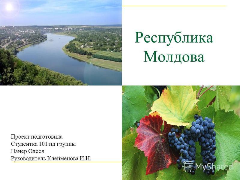 Республика Молдова Проект подготовила Студентка 101 пд группы Цанер Олеся Руководитель Клейменова И.Н.