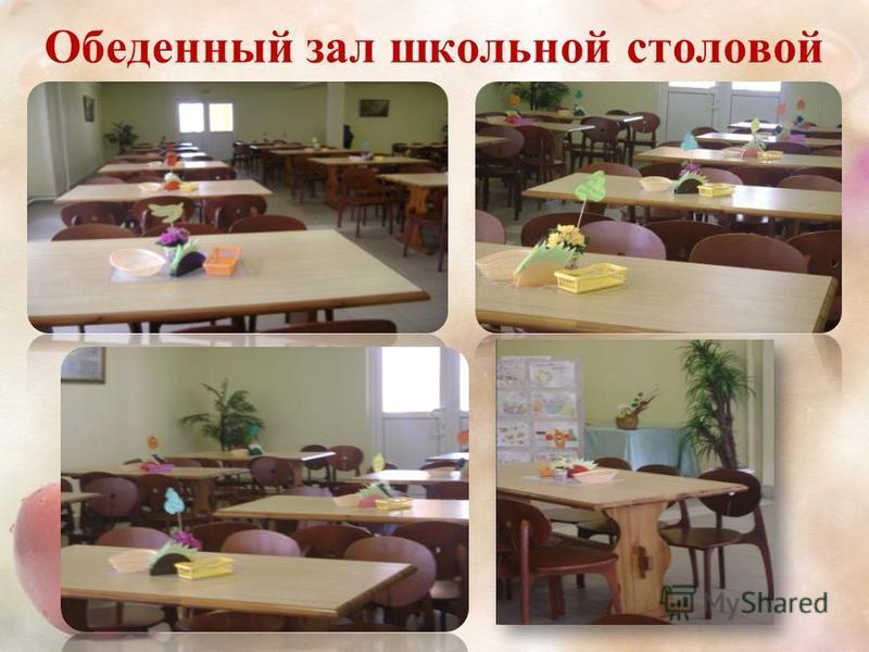 Обеденный зал школьной столовой