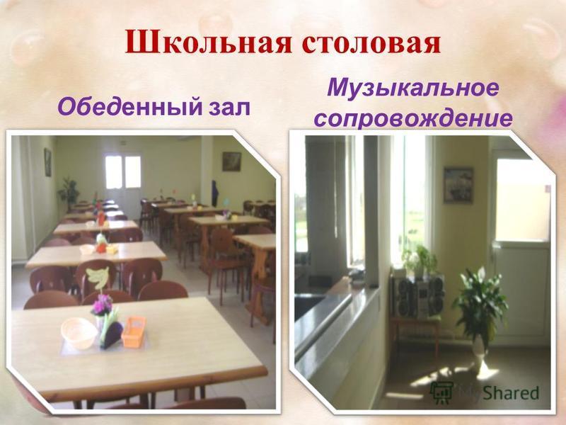 Школьная столовая Обеденный зал Музыкальное сопровождение