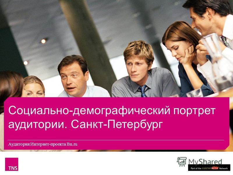 Аудитория Интернет-проекта Bn.ru Социально-демографический портрет аудитории. Санкт-Петербург