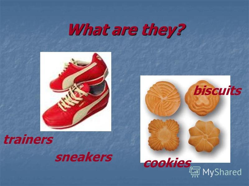 What are they? trainers sneakers cookies biscuits
